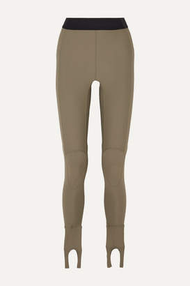 Ambush Printed Stretch-scuba Stirrup Leggings - Army green