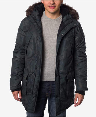 Buffalo David Bitton Men's Faux Fur Hooded Camo Parka