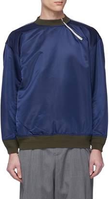 Digawel Slanted half zip colourblock panelled sweatshirt