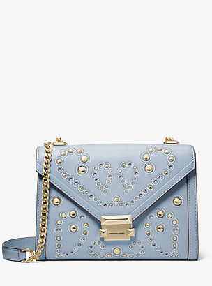 Michael Kors Whitney Large Embellished Leather Shoulder Bag