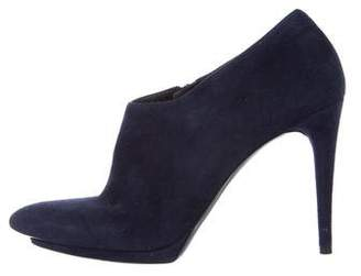 Balenciaga Suede Pointed-Toe Booties