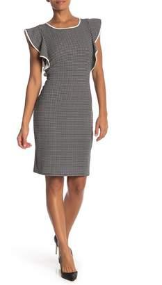 Just For Wraps Flutter Sleeve Knit Dress