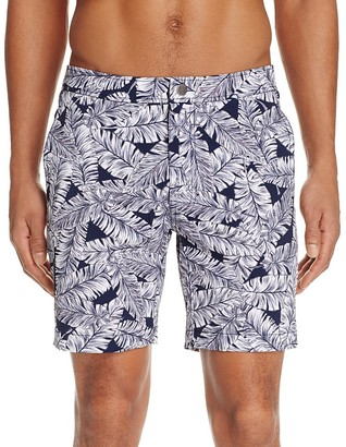 Onia Calder Leaf Print Swim Trunks - 100% Exclusive $145 thestylecure.com