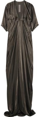 Rick Owens - Kite Satin Gown - Dark gray $955 thestylecure.com