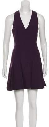 Elizabeth and James Pleated Mini Dress Plum Pleated Mini Dress