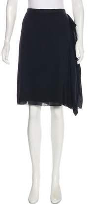 Reed Krakoff Silk Asymmetrical Skirt