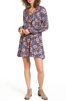 Women's Billabong Just Like Us Lace-Up Shift Dress $54.95 thestylecure.com