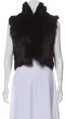 Adrienne Landau Cropped Fur Vest