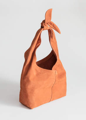 d3bf9fa22782 And other stories Soft Suede Tie Up Bag