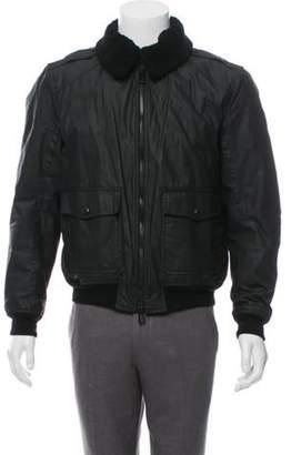 Belstaff Wax Coated Zip-Up Jacket black Wax Coated Zip-Up Jacket