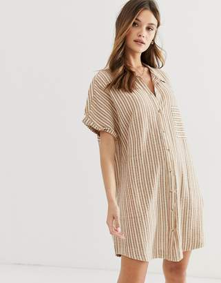 rhythm Bahamas beach shirt dress in sunburn stripe