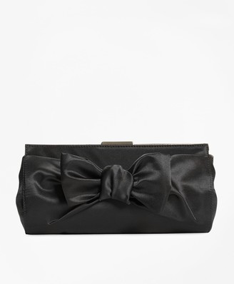 Brooks Brothers Satin Bow Clutch