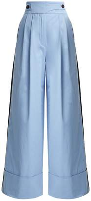 Palmer Harding PALMER/HARDING Side stripe cotton-blend trousers