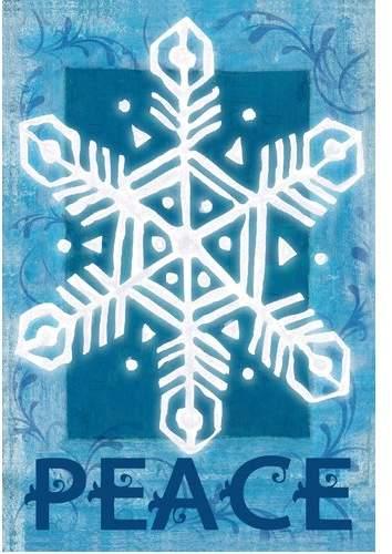 The Cranford Group Snowflake Peace Garden Flag