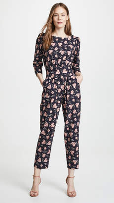 Rebecca Taylor Long Sleeve Adelle Floral Jumpsuit
