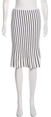 J.W.Anderson Striped Knee-Length Skirt