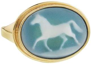 Laura Lee Jewellery Horse Cameo Ring - Yellow Gold