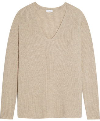Vince - Wool And Cashmere-blend Sweater - Beige $325 thestylecure.com