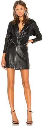 Divine Heritage Vegan Leather Moto Dress