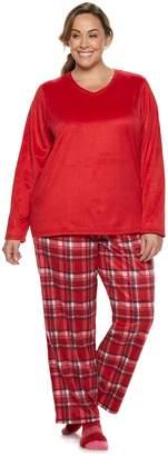 Croft & Barrow Plus Size Minky Fleece 3-piece Pajama Set