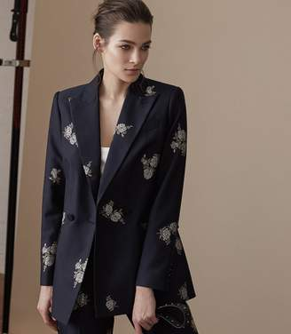 Reiss Fauna Jacket Embroidered Blazer