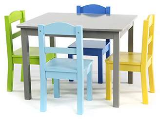 Tot Tutors TC534 Springfield Collection Kids Wood Table & 4 Chair Set