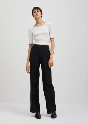 Acne Studios Marcelle Raw Zippered Trousers Black
