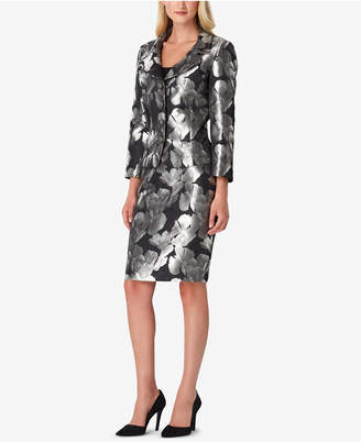 a3a3b1809cdf Tahari ASL Floral Jacquard Skirt Suit