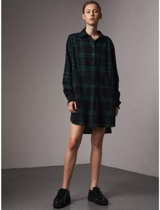 Burberry Check Wool Tunic Dress