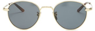 Gucci Round Frame Sunglasses - Mens - Gold