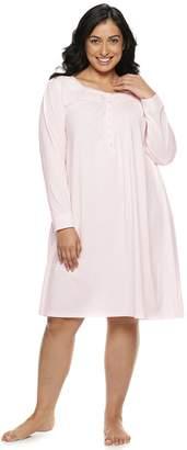 Croft & Barrow Plus Size Henley Nightgown