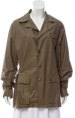 Bergdorf Goodman Cargo Button-Up Coat