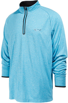 Greg Norman for Tasso Elba Men's Quarter-Zip Performance Sweashirt, Only at Macy's $75 thestylecure.com