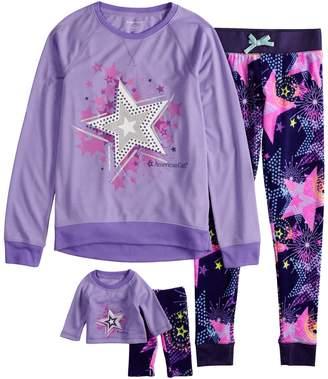 Girls 4-16 American Girl Top & Bottoms Pajama Set & Matching Doll Pajama Set