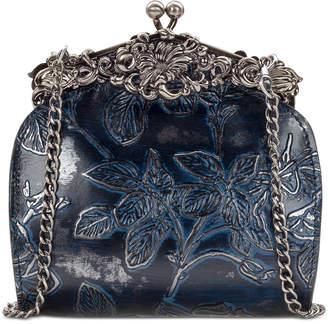 Patricia Nash Rosaria Metallic Embossed Leather Shoulder Bag