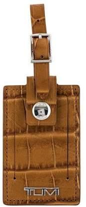 Tumi Embossed Leather Luggage Tag