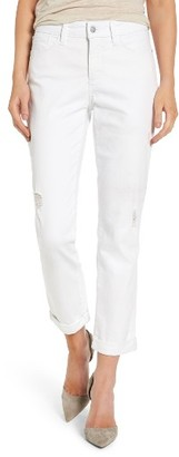 Women's Nydj Jessica Destructed Stretch Boyfriend Jeans $134 thestylecure.com