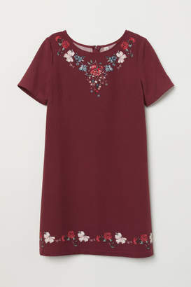 H&M Short-sleeved Dress - Red