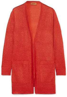 Missoni Metallic Stretch-knit Cardigan - Red