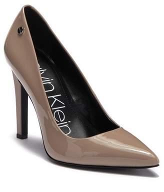 2d0b44140b2 Calvin Klein Brady Patent Leather Pointed-Toe Pump