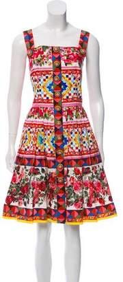 Dolce & Gabbana 2017 Mambo Print Sleeveless Dress