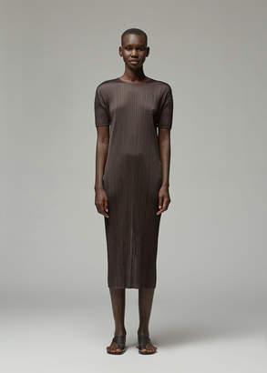 Pleats Please Issey Miyake Short Sleeve June Dress