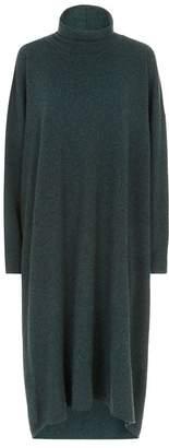 eskandar Roll Neck Sweater Dress