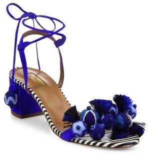Aquazzura Tropicana Multitoned Sandals $850 thestylecure.com