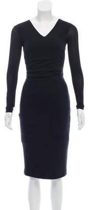 Max Mara Virgin Wool Knee-Length Dress