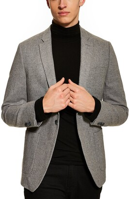 Topman Edgar Skinny Fit Tweed Sport Coat