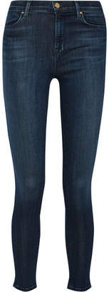 J Brand - Maria High-rise Skinny Jeans - Blue $230 thestylecure.com