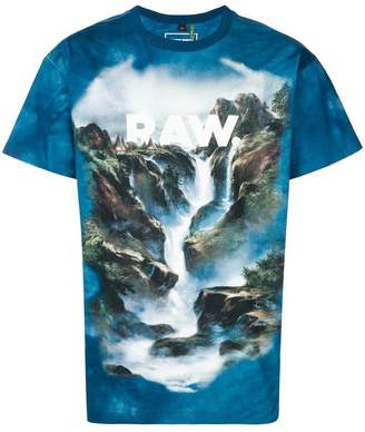 G Star Research waterfall print T-shirt