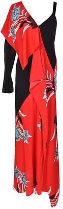 Diane von Furstenberg Asymmetric Oriental Print Dress