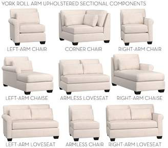 Pottery Barn York Roll Arm Deep Seat Upholstered Build Your Own Components